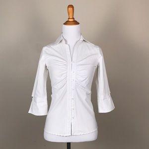 Bebe Cotton Button Down Stripe Shirt